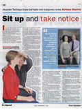 'Sit up and take notice' (Irish Examiner, Feelgood, 5th Sept 2008)